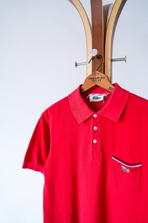 """【1960s】""""CHEMISE LACOSTE"""" Seed Stitch Polo Shirts / v651y"""