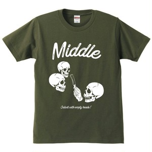 MiDDLE Tシャツ olive