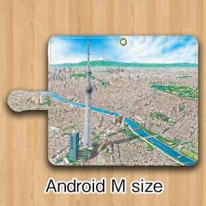 【受注生産】パノラマ浅草 Android用 Mサイズ 手帳型ケース