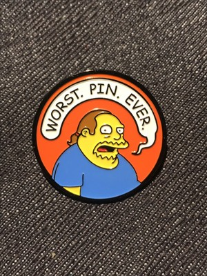 "PATCH PARLOUR""WORST. PIN. EVER."" ENAMEL PIN"