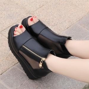 【shoes】トレンド厚底シンプルサンダル13019984