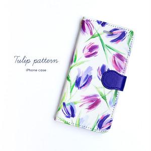 iPhone 手帳型スマホケース 【Tulip】iPhone5/5s/SE/6/6s/7/8/X/XS