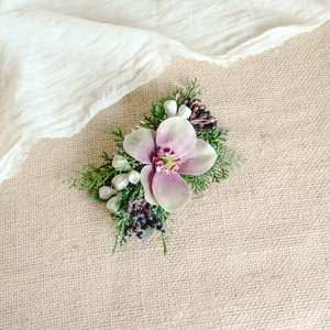 """Hair ornament for """"Christmas rose winter Bouquet"""""""