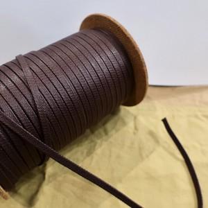 極上の艶 靴紐 (ダークブラウン) 平紐 6mm