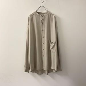 STRUCTURE シルクシャツ ベージュ size L メンズ 古着