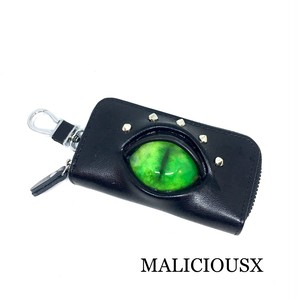 cat eye  key case / green