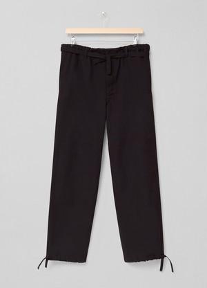 LEMAIRE DRAWSTRING JUDO PANTS 999 BLACK X 211 PA165 LF575