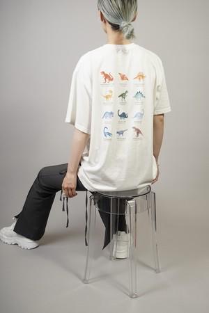BACK DINOSAUR T-SHIRT (WHITE) 2105-22-170