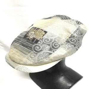 西陣織ハンチング帽HT0028  夏用サイズ M.L