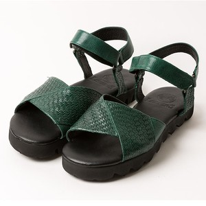goat leather sandals/BLK,GRN/LIBERTAS【3月中旬】