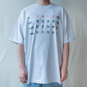 sizeguide s/s t-shirts