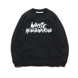 "PRINTED SWEATSHIRT ""WHITE MOUNTAINEERING"" - BLACK"