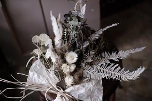 スワッグ-モノトーン 透明な白×黒