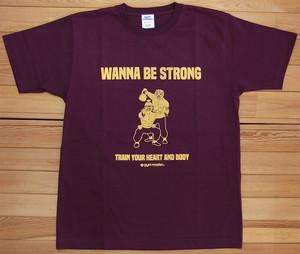 gym master WANNA BE STRONG Tee ジムマスター Tシャツ バーガンディ 酔拳 DRUNKEN MASTER カットソー 半袖 G280675