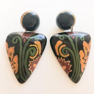 wood paint pierce[p-739] ヴィンテージピアス