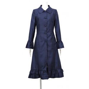 Navy Taffeta Women's Coat ネイビー タフタ レディース コート KQDUO0830