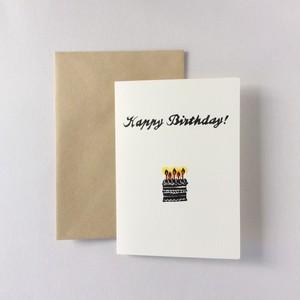 二つ折りBirthday card