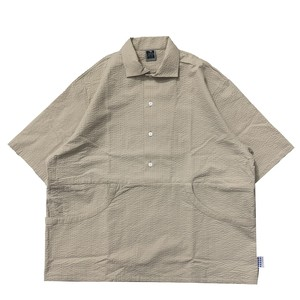 NOROLL / THROUGH SOLID SHIRTS -BEIGE-