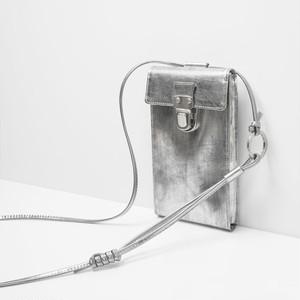 【NEW】213ABG05 Leather cell phone small bag 'cartable' ショルダーバッグ スマホショルダー/スクラッチシルバー
