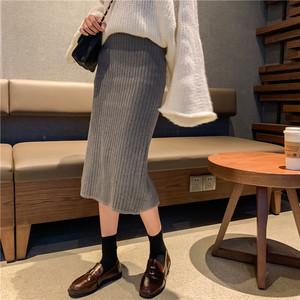 【bottoms】女性ラインスリット優しい感じスカート24813743