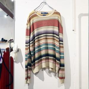 〝Ralph Lauren〟linen knit sweater