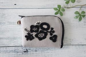 ミニ財布(グレー×ブラック)