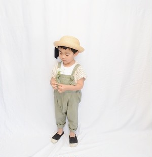 Twill overalls olive S