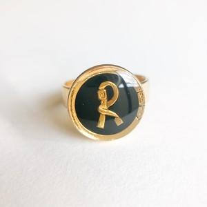 """""""Roberta"""" black ring #13[r-114]"""