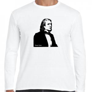 リスト ハンガリー ドイツ 音楽家 歴史人物ロングTシャツ042