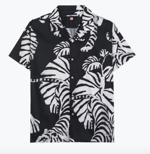 (DOUBLE RAINBOUU) S/S HAWAIAN SHIRT