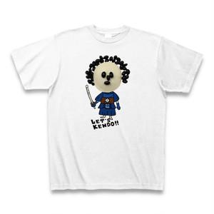 レッツケンドーマスクマン七変化Tシャツ【黒豆アフロくん】カラー/ホワイト・サイズ:S~XL