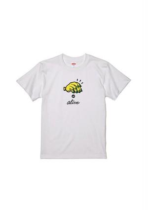 5eL × People's コラボT-Shirts / バナナ Tee - White