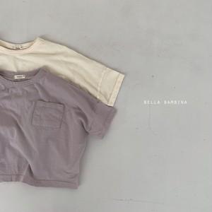 『翌朝発送』pocket T-shirt〈bella bambina〉