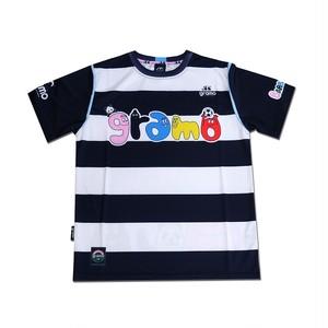 BARBAPAPA×gramo コラボ プラシャツ「HELLO!」(ブラック/P-027) ※S~Lサイズ