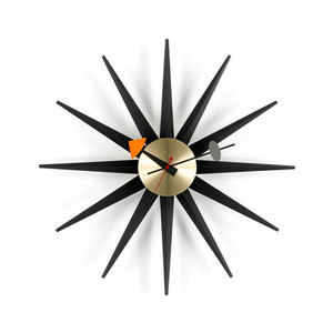 Sunburst Clock [ Black/Brass ]