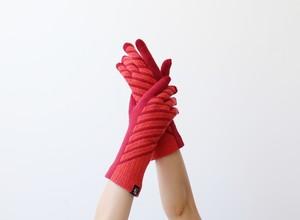 % PERCENT 手袋(FIT:レッド・オレンジ)裏起毛・スマホ対応・ギフト箱付き(男女兼用)