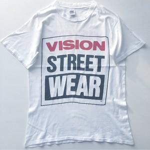 80s VISION STREET WEAR 初期ロゴTシャツ 白 表記 (L)