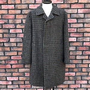 1980s Vintage Harris Tweed Over Coat Made In England
