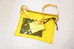 Shoulder Bag 3-Pie -YELLOW- / Ground Y
