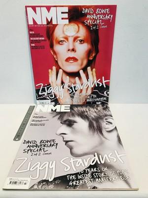 洋雑誌 NME  ディビッド・ボウイ アニバーサリー2種カバー