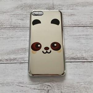#000-201M iPhoneケース 送料無料 動物 パンダ iPhone7/8 メタリック ケース 可愛い タイトル:デカ パンダ