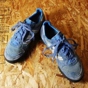 80s アディダス adidas MARATHON TR LOW スニーカー ブルー 古着 26cm-26.5cm マラソントレーナー