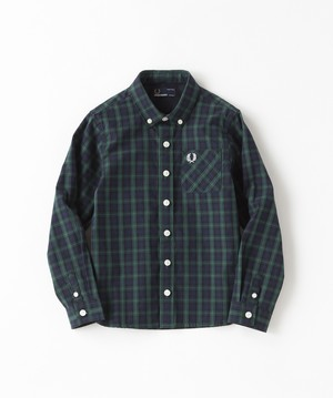30% OFF ! Kids FredPerry Lamont Tartan SHIRT  ( DARK CARBON) キッズ フレッドペリー