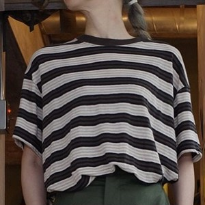 unfil (アンフィル) French Linen Jersey Oversized tee