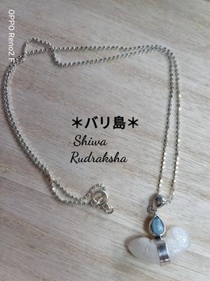 【入魂儀式済】ケオン&ラリマー★シルバーチェーンのネックレス
