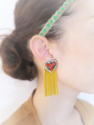 vintage earrings heart bijou <ER-HTYL>