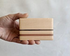 【ご自分用におすすめ】 木製 寄木 名刺入れ/カードケース【A】 【送料無料】