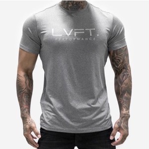 LIVE FIT Tech-Performance Tee-Heather Grey