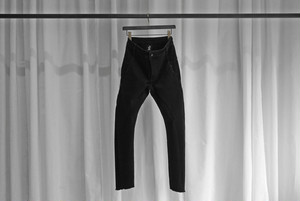 thom krom / SKINNY DENIM -SLIT POCKET- / BLK