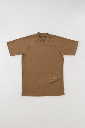 Sato SS Mock Neck: Color Brown